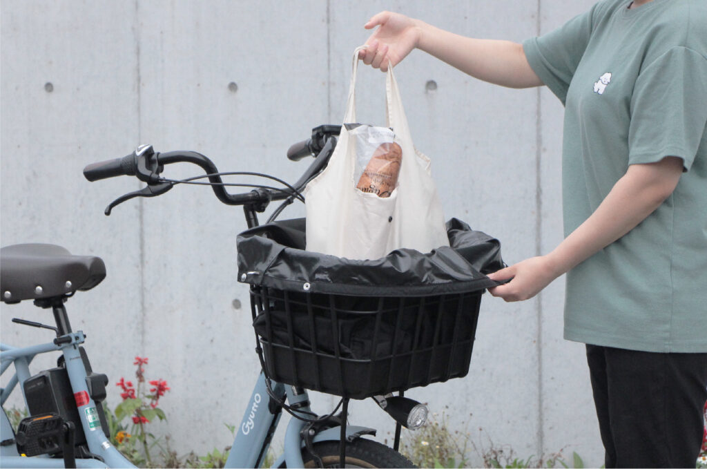 自転車 買い物 防水